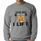 Yeah Bro I Lift Kitten Barbell Crewneck