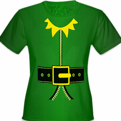 Elf T-Shirt - Girl's Elf T-Shirt (Kelly Green)