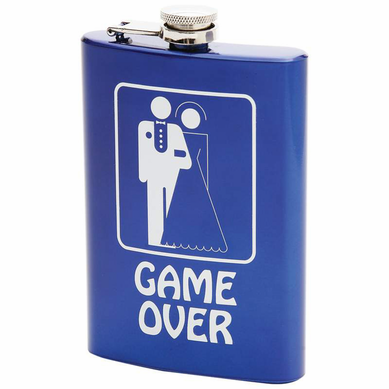 8oz Game Over Stainless Steel Flask