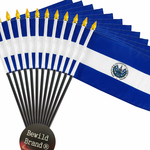 4x6 Inch El Salvador Flag (12 Pack)