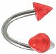 Twisted Spike Navel Jewelry (Red)
