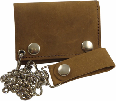 Rustic Leather Chain Wallet