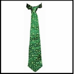St. Patrick's Day Shamrock Green Tie