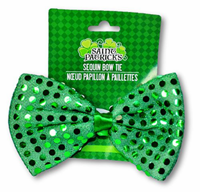 Deluxe St. Patricks Day Sequin Bow Tie