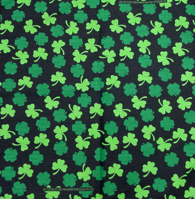 Bandanas - St Patrick's Day Good Luck Clover Bandana