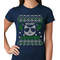 Meowy Christmas Cool Cat with Glasses Women's T-shirt