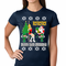 Ugly Christmas Sweater - Santa and the Stripper Women's T-Shirt