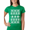 Ugly Christmas Sweater - Snowflake HO HO HO Women's T-Shirt