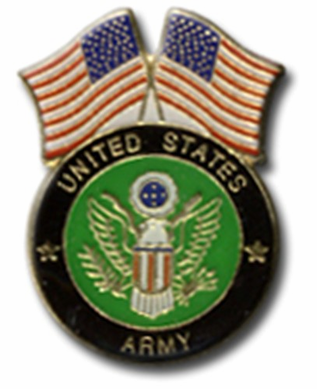 U.S. Army And Flags Lapel Pin