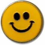 Smiley Face Lapel Pin