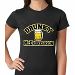 Drunky McDrunkerson Funny Women's T-shirt