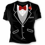Girls All Occasion Formal Tuxedo T-Shirt
