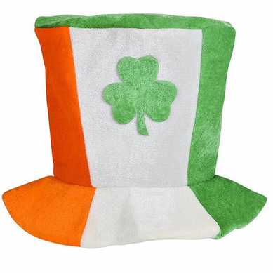 Tri-Color Irish St. Patrick's Day Flag Top Hat