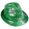 St. Patrick's Day Irish Green Shamrock Sequin Fedora