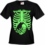 Glowing Pregnant Skeleton Women's T-Shirt