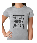 (Black Print) You Know Nothing Jon Snow Women's T-shirt