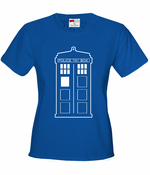Police Box Phone Booth Tardis Women's T-Shirt