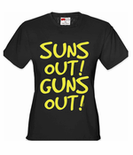 Suns Out Guns Out Women's T-Shirt Yellow Print