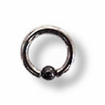 Surgical steel 10 gauge 7/16 ring