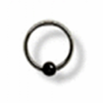 "16g 1/4"" Surgical Steel Captive Bead Ring"
