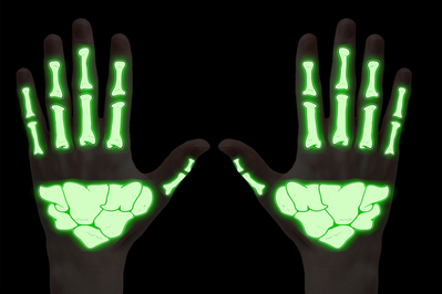 Skeleton Hand Glow in the Dark Temporary Hand Tattoo