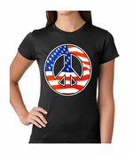 American Flag Peace Sign Women's T-Shirt