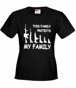 This Family Protects My Family Women's T-Shirt