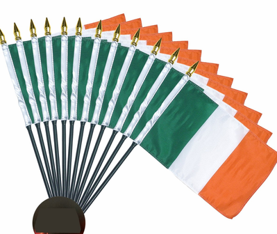4x6 Inch Ireland Flag (12 Pack)