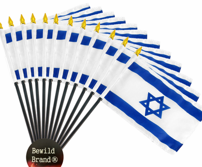 4x6 Inch Israel Flag (12 Pack)