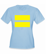 Women's Equality T-Shirt with Yellow Equal Sign