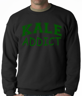 Kale Addict Adult Crewneck Sweatshirt