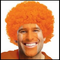 Orange Curly Team Spirit Wig
