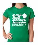 The Four Fathers of St. Patrick's Day Women's T-Shirt