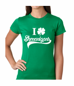 I Clover Shenanigans Funny St. Patrick's Day Women's T-Shirt