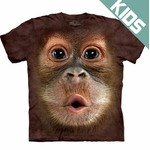Kid's Baby Orangutan Big Face T-Shirt