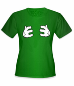 Cartoon Hands Grabbing T-Shirt