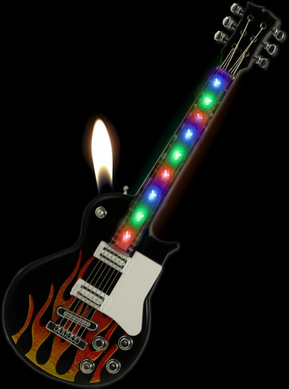 Guitar Lighter - Light Show Guitar Cigarette Lighter