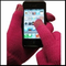 Cell Phone Texting Gloves Pink