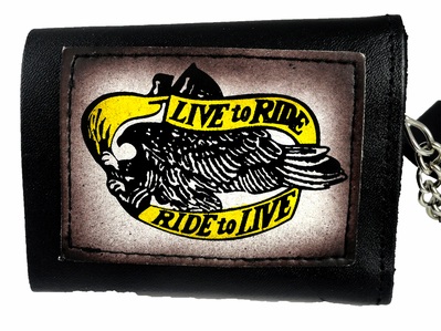 Live to Ride Leather Chain Wallet