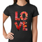 Love Floral Pattern Women's T-shirt
