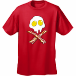 Bacon & Eggs Skull Men's T-Shirt