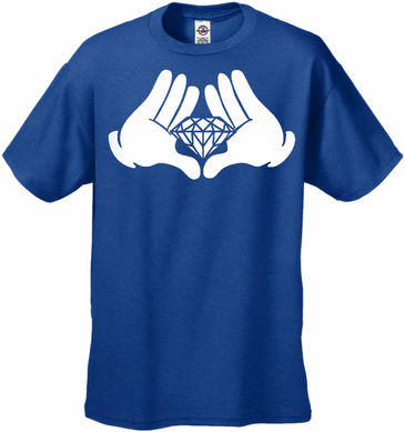 Cartoon Hand's Diamond Men's T-Shirt