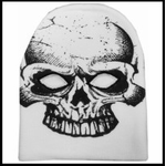White Skull Costume Ski Mask