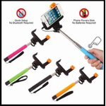 """Selfie Stick with Clicker 40 """" For Apple & Android"""