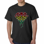 Rasta Pot Leaf Diamond Men's T-Shirt