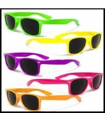 Vintage Wayfarer Sunglasses in Assorted Neon Colors