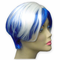 Blue / White Two Tone Colored Wig