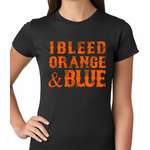 I Bleed Orange And Blue New York Baseball Women's T-shirt