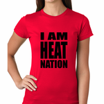 I Am Heat Nation Basketball Women's T-Shirt