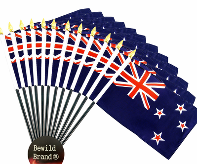 4x6 Inch New Zealand Flag (12 Pack)
